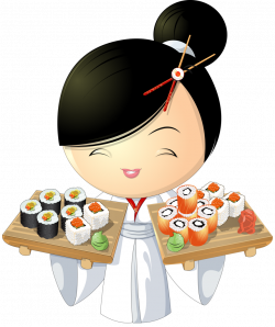 sushi girl 2 [преобразованный].png | Pinterest | Asian and Album