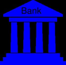 Government Bank Blue Clip Art at Clker.com - vector clip art online ...