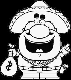 FW - bandit heureux avec dollars - smiley émoticône clipart cartoon ...