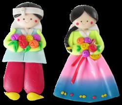10Pairs(20PCS) Korean Doll Fridge Magnets Hanbok Couple Adorable ...