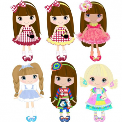 pastel clip art dolls - Google Search | ILLUSTRATIONS/ CLIP ART ...