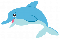 Happy Dolphin Clipart