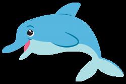 Happy Dolphin Clipart