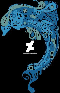 Blue Pattern Dolphin by artbeautifulcloth on DeviantArt