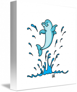 Dolphin Splash by Loni Edwards