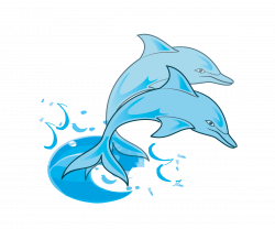 Dolphin paintings | Free Pair of Blue Dolphins Clip Art | Painting ...