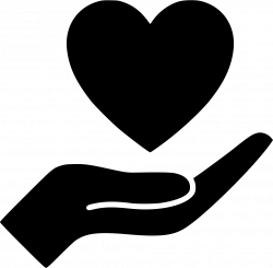 Heart Hand Svg Png Icon Free Download (#491397) - OnlineWebFonts.COM