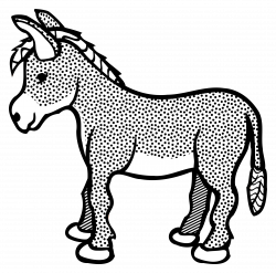 Donkey Drawing Outline at GetDrawings.com | Free for personal use ...