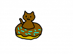Chocolate donut cat adopt by Hibiscus-Rainwing on DeviantArt