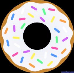 Donut Vanilla Sprinkles Clip Art - Sweet Clip Art