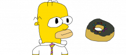 Homer Simpson with a donut. by TannerE on DeviantArt