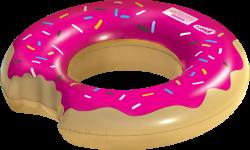 Wham-O Splash Inflatable Strawberry Donut Swimming Pool Ring Float ...