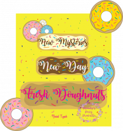 FREE Donut Birthday Invite and Toppers |