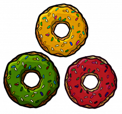 donut vert jaune rouge 3colors vertjaunerouge greenye...