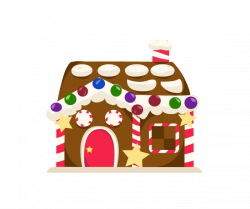 28+ Collection of Gingerbread House Clipart Png | High quality, free ...