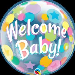 Welcome Baby Bubble Balloon 22