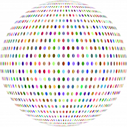 Prismatic Polka Dots Sphere No Background Icons PNG - Free PNG and ...