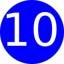 Blue, Rounded,with Number 10 Clip Art at Clker.com - vector clip art ...
