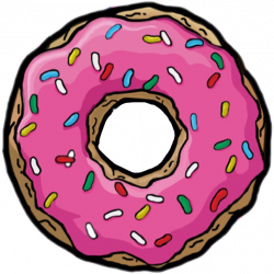 donut simpson red pink yellow white brown green blue...
