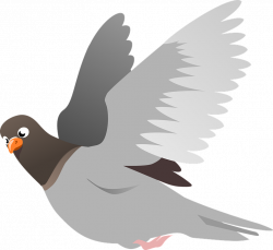 Peace Dove Clipart Pigeon Flying#3773238