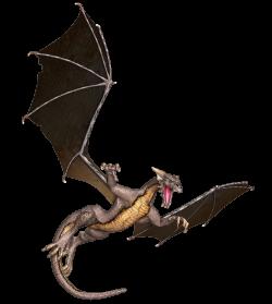 Dragon Brown Flying transparent PNG - StickPNG