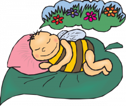 Dreaming Bee Clip Art at Clker.com - vector clip art online, royalty ...