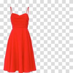 Flirty Short Red Dress, women's ted sheer strap mini dress ...