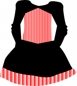 Red White Striped Dress Clip Art at Clker.com - vector clip art ...
