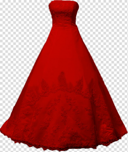 red strapless long dress transparent background PNG clipart ...