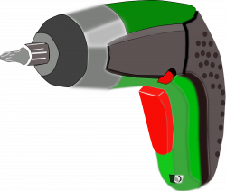 Clipart - Screwdriver (battery-powered electric)