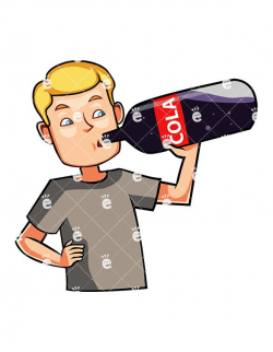 A Man Drinking A Cola Drink | Dessin in 2019 | Cola drinks ...