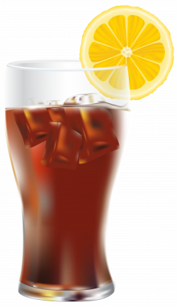 Cola with Ice and Lemon PNG Transparent Clip Art Image | Gallery ...
