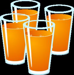Clipart - Drink Orange Juice
