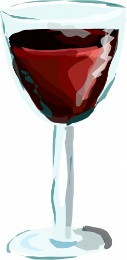 Clipart - Red Wine Glass