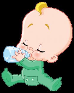 Milk Infant Drinking Baby bottle Clip art - The cartoon baby in milk ...