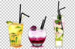 Cocktail Watercolor Painting Illustration Drawing Alcoholic ...