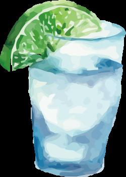 Juice Drinking - Watercolor Drink Vector 1441*2026 transprent Png ...
