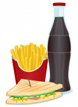 Fast Food Clipart- Pizza, Burgers, Hot Dogs & Fries