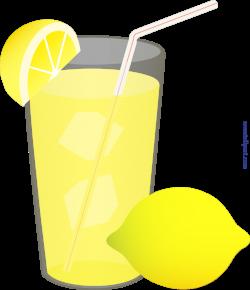 Iced Lemonade Glass Straw Lemon Wedge Clip Art - Sweet Clip Art