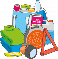 Clipart - Items to take away during winter trips for foresight