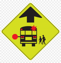 Bus Stop Sign Clip Art - Bus Stop Ahead Sign, HD Png ...