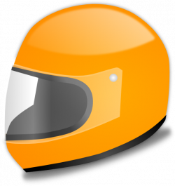 Yellow Racing Helmet Clip Art at Clker.com - vector clip art online ...