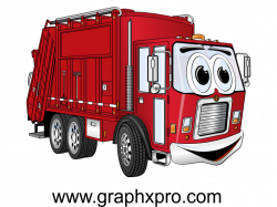 Red Garbage Truck Cartoon | Garbage Truck Cartoons | Pinterest ...