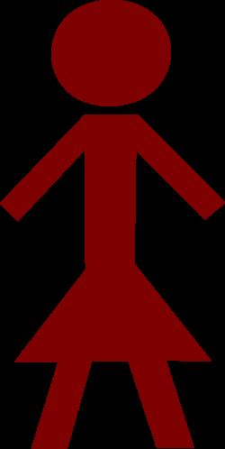 Clipart - Stick figure: female