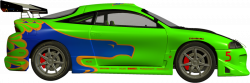 Side view car driving clipart