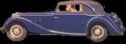 Clipart - Ladies Driving Vintage Car