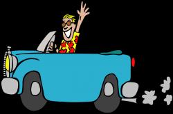 Clipart - Driving a car