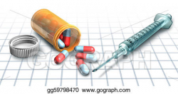 Stock Illustration - Medicine and drugs. Clipart Drawing ...