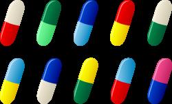 Ten Capsule Pill Pharmaceutical Drug Clipart | jokingart.com ...