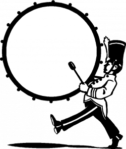 Marching Bass Drum Clipart